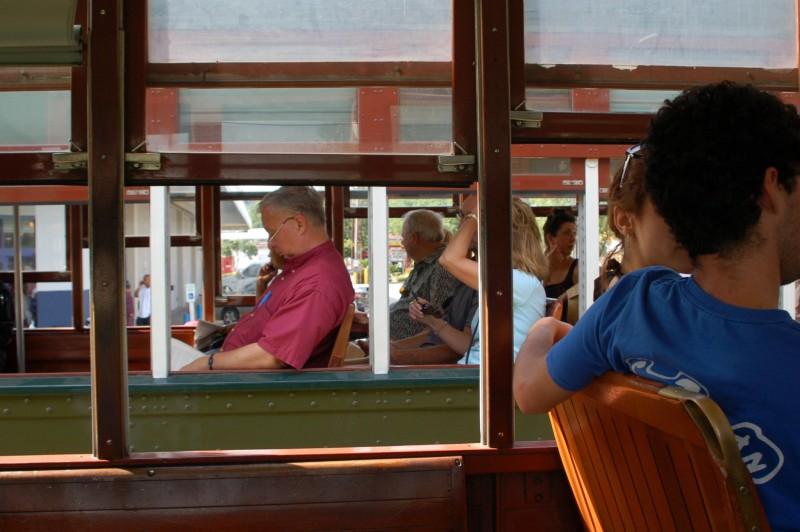 Riding a streetcar