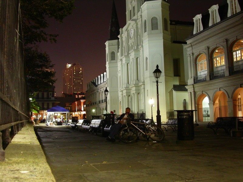 Jackson Square at night