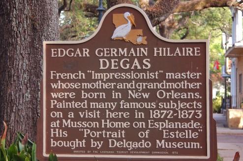 Degas historical marker